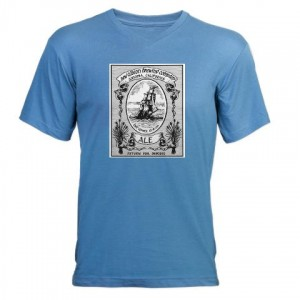 new_albion_brewing_company_mens_vneck_tshirt